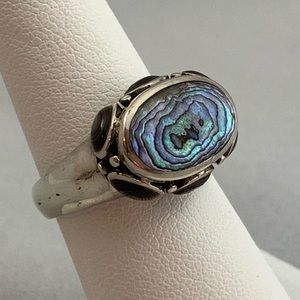 Jewelry - Sterling & Abalone Shell Ring